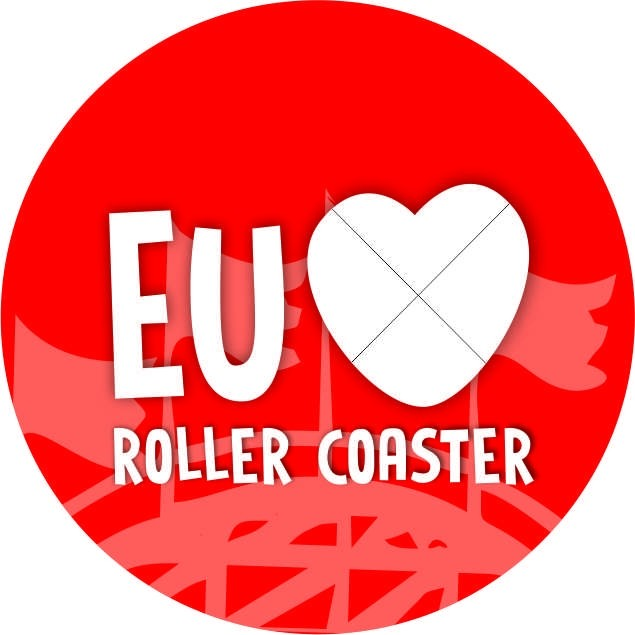 """Chaveiro """"Eu amo Roller Coaster"""""""