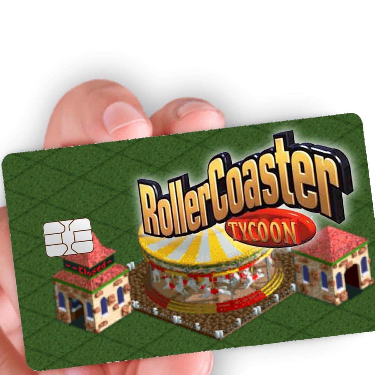 """Película para cartão """"Roller Coaster Tycoon 2"""""""