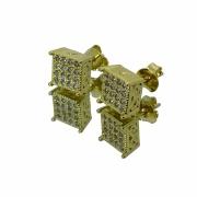 Brinco Babel Cravejado em Zircônia 2,5g (Banho Ouro 18k)