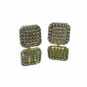 Brinco Quadrado 36 Pedras (2,3g) (Banho ouro 18k)