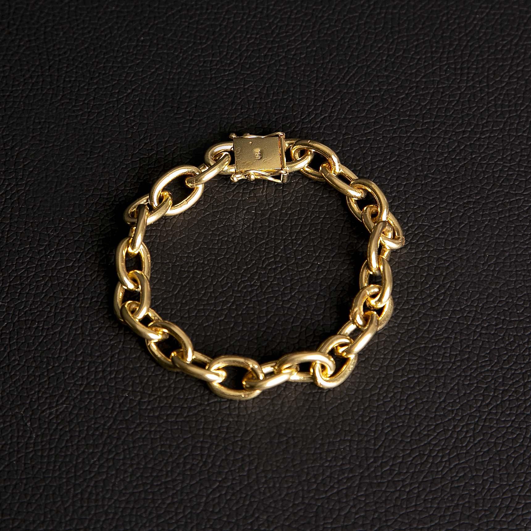 Pulseira cadeado 10mm feito de moeda antiga