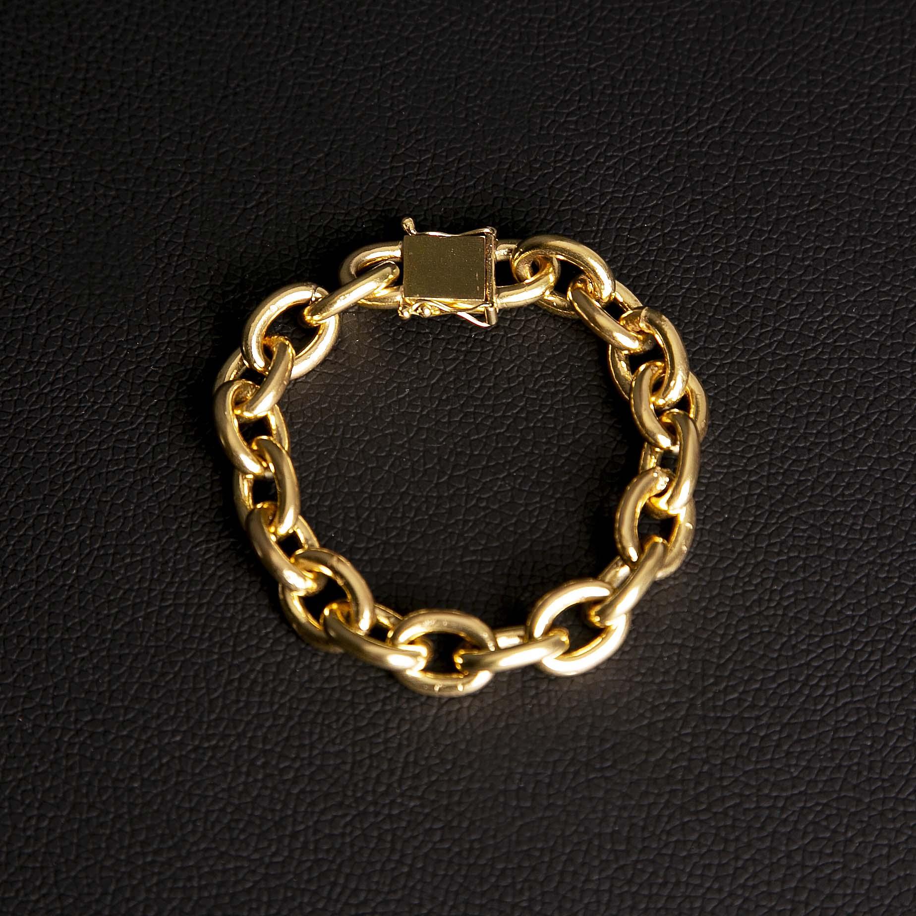 Pulseira cadeado 12mm feito de moeda antiga