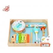 Caixa Musical Infantil Tooky Toy com Xilofone, Pandeiro, Flauta e Chocalho