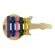 Metalofone Guitarra 5 Teclas Coloridas P2238 - Vibratom