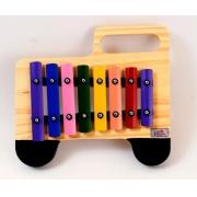 Metalofone Infantil Caminhão Musical Colorido - Vibratom