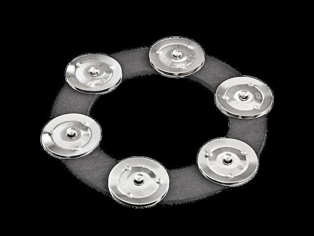 Efeitos para chimbal MEINL Soft Ching Ring - contendo 6 pares de platinelas de aço inoxidável