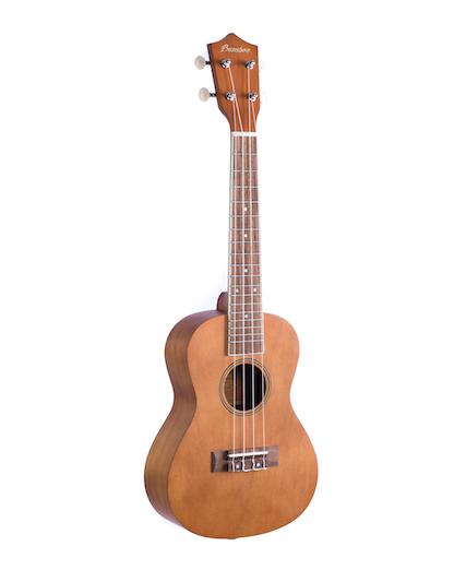 """Kit Ukulele Concert Bamboo 23""""+capa+afinador+palheta"""