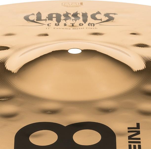 "MEINL 17"" Crash - Linha Classic Custom Extreme Metal"