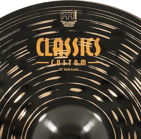 "MEINL 18"" Dark Crash - Linha Classic Custom Dark"