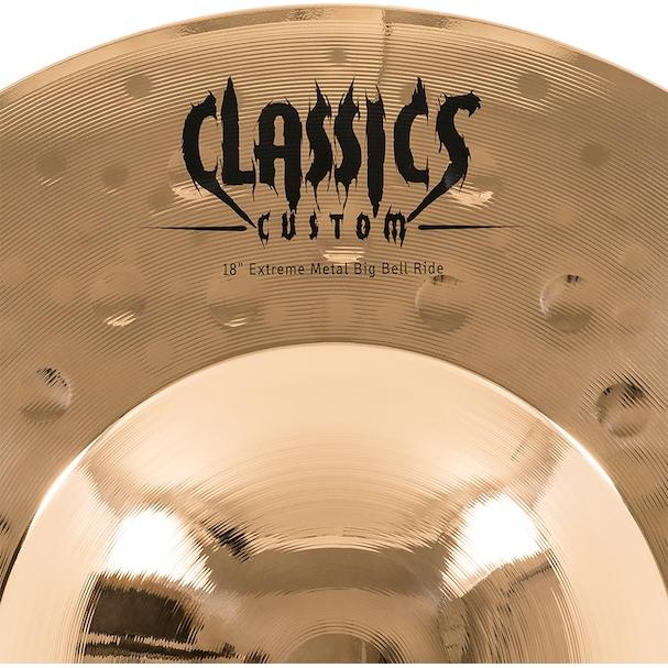 "Prato de bateria Big Bell Ride 18"" Meinl - Classics Custom Extreme Metal"