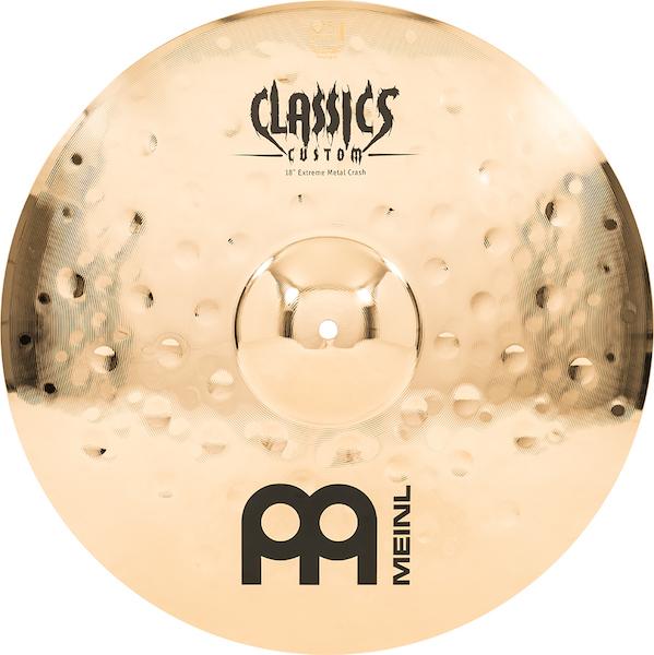 "Prato de bateria Crash 18"" Meinl - Classics Custom Extreme Metal"