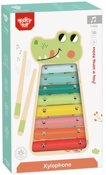 Xilofone Jacaré para Musicalização Infantil  Tooky Toy