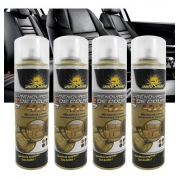 Kit 4 Limpa Renova Hidrata Couro Automotivo Spray Autoshine