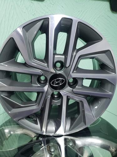 Jogo Rodas Aro 14 Hyundai Hb20 Novo 2020 4x100 Zk870 Graf. Diamantado