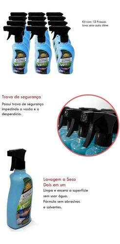 Kit 12 Lava Seco Encera Lavagem Ecológica Autoshine 500ml