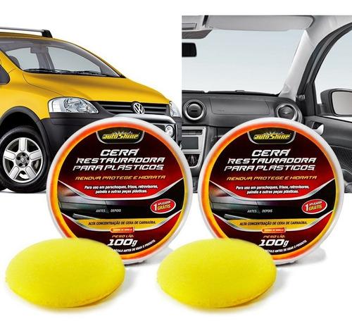 Kit 2 Cera Restauradora Para Plasticos 100g Autoshine