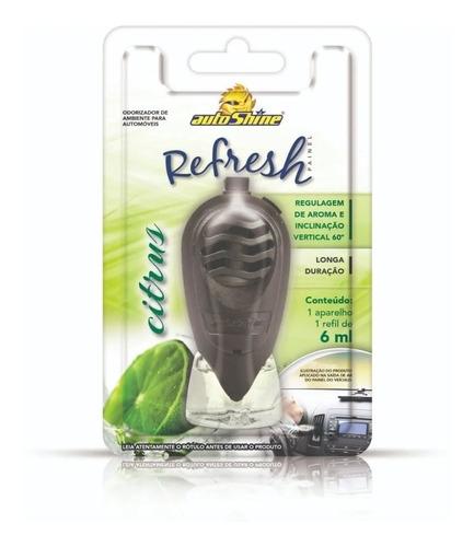 Kit 4 Aromatizante Refresh Autoshine Painel 6ml - Citrus
