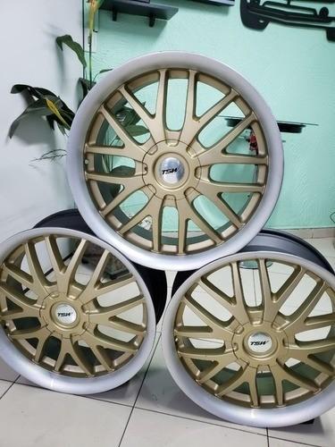 Rodas Tsw Kayalami Dourada Aro 20 5x100/112 Novas C/ Avarias