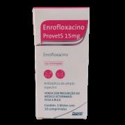 ENROFLOXACINO PROVETS 15MG C/ 10 COMPRIMIDOS