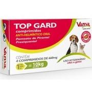 VERMÍFUGO TOP GARD P/ CÃES E GATOS C/ 4 COMPRIMIDOS
