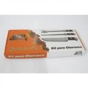 Kit para Churrasco Zebu Barretos 03 peças