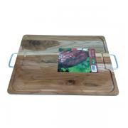 Tábua para Churrasco com Alças Metálicas 38,5 x 28,5 x 1,7cm