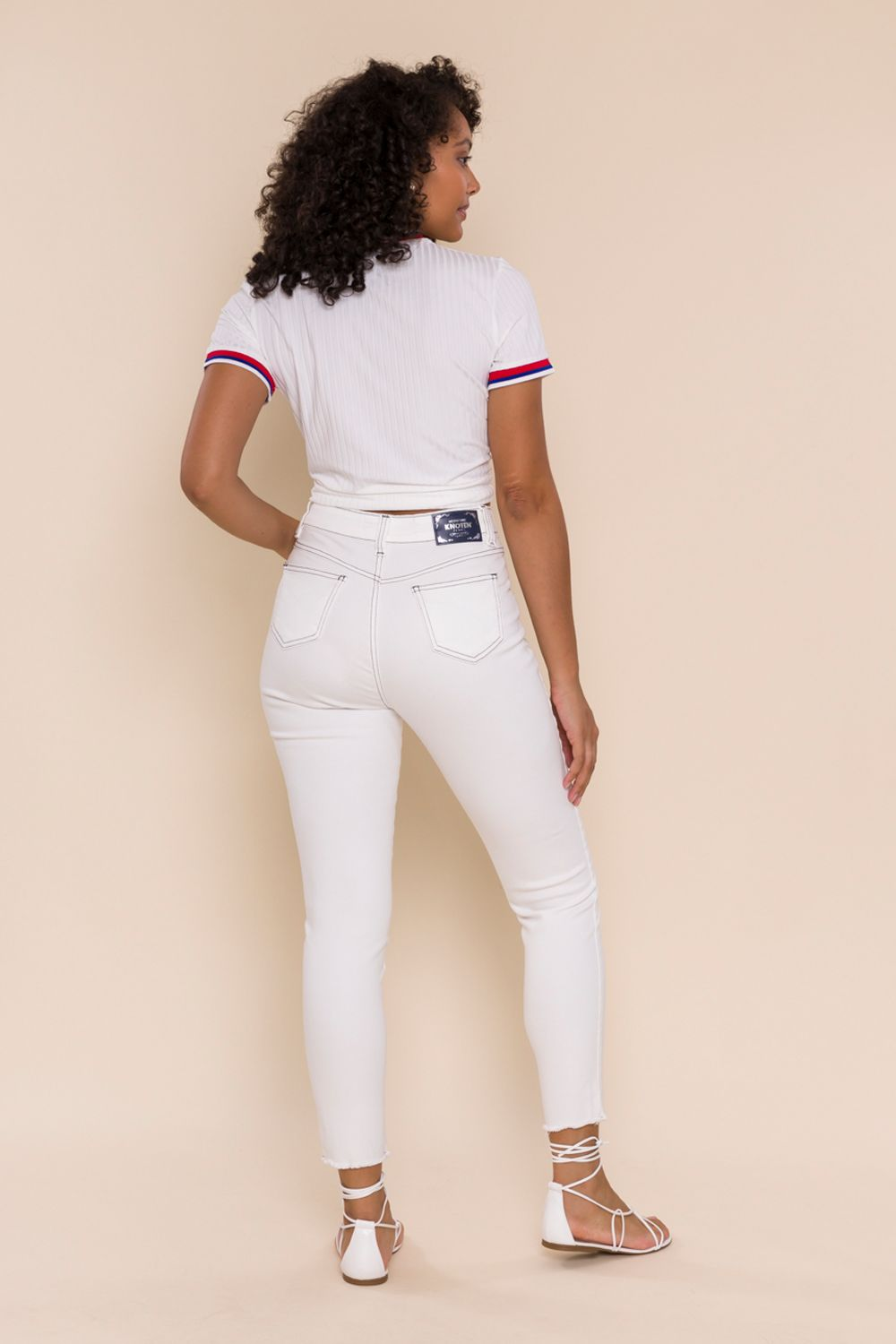 CALÇA SARJA CROPPED SLIM BARBARA