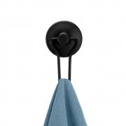 Gancho Preto Com Adesivo Fixa Sem Furar Cabide Black