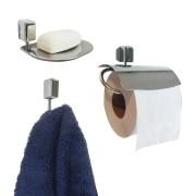 Kit Acessório para Banheiro e Lavabo com 3 Peças Linha Città