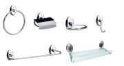 Kit Acessórios para Banheiro de Metal com 6 peças Steelo Oval