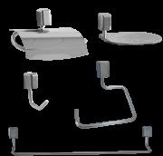 Kit Acessórios para Banheiro Linha Città com 5 peças