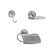 Kit para Banheiro e Lavabo Linha Steelo com 3 peças Redondo