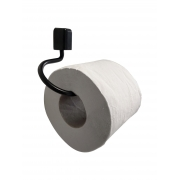 Papeleira Preta de Aço Inox Linha Città Black Porta Papel para Banheiro