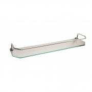 Prateleira de vidro chanfrado com grade 45 cm