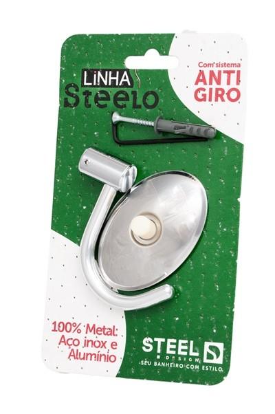 Cabide Gancho Simples de Metal Linha Steelo