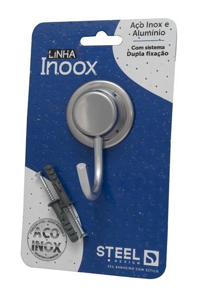 Conjunto com 2 Cabides Simples de Aço Inox Linha Inoox Steel Design
