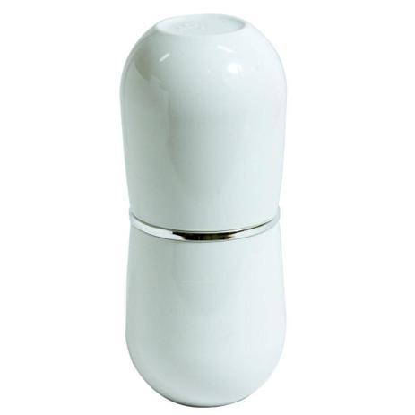 Conjunto para Bancada de Banheiro com Porta Escova e Sabonete Líquido Branco e Cromado