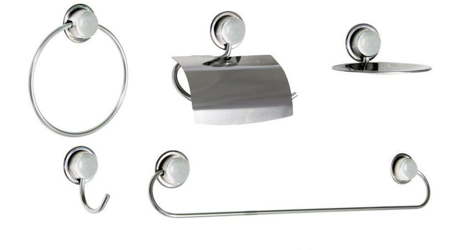 Kit Acessórios para Banheiro de Aço Inox com 5 peças Linha Inoox Steel Design