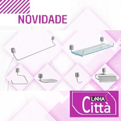 Kit para Banheiro Città 5 peças + Porta-shampoo