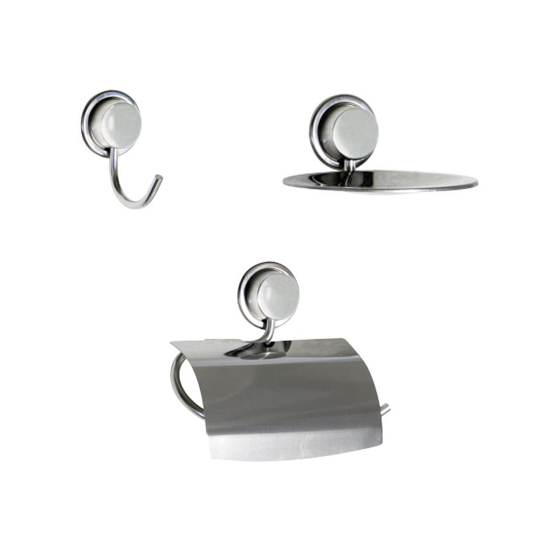 Kit para Banheiro e Lavabo Linha Inoox com 3 peças