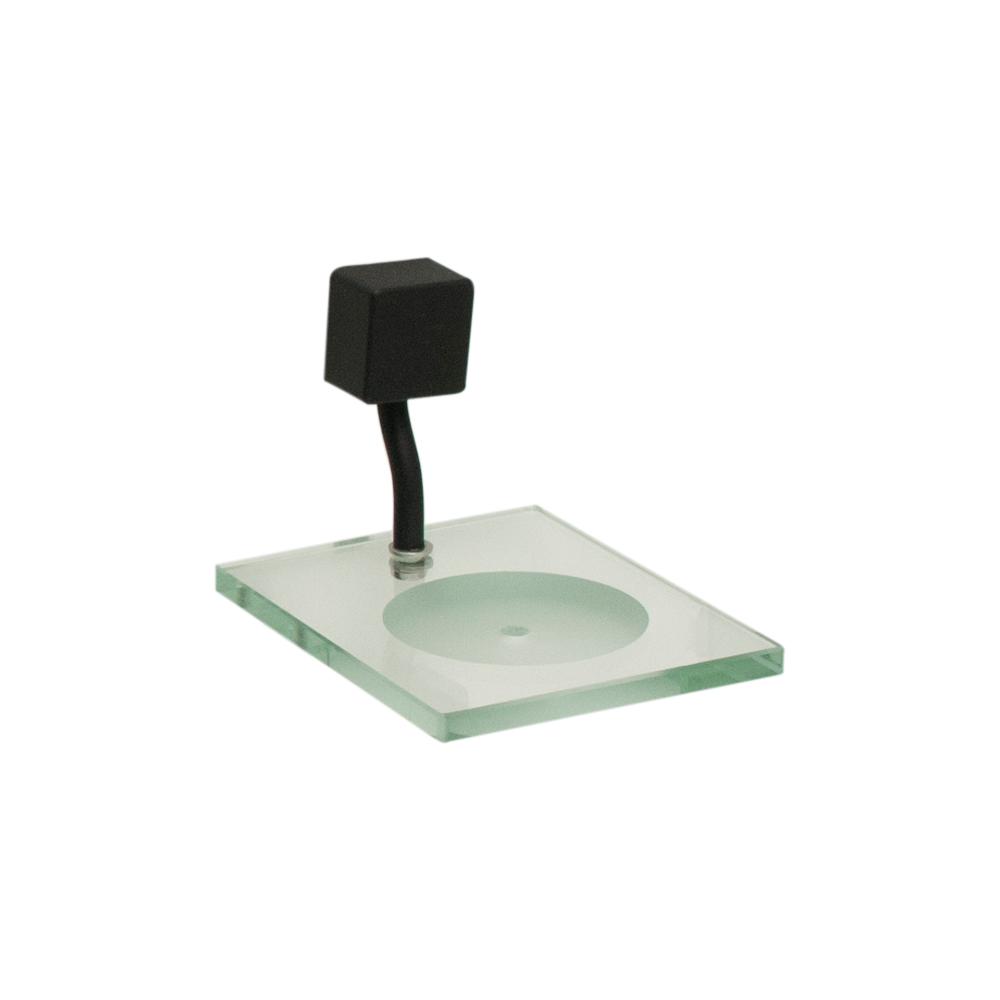 Kit para Banheiro Preto Class Urbana 6 peças Quadrado Black com Saboneteira e Porta-Shampoo de Vidro