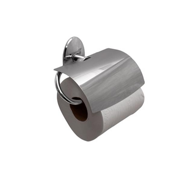 Papeleira com tampa de Inox Linha Steelo Acabamento Oval