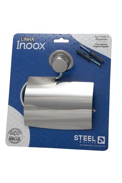 Papeleira de Aço Inox Linha Inoox Steel Design