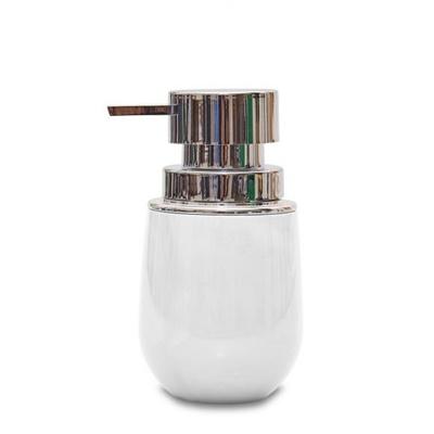 Porta Sabonete Líquido Branco e Cromado 400 ml New Belly Cromo Ou