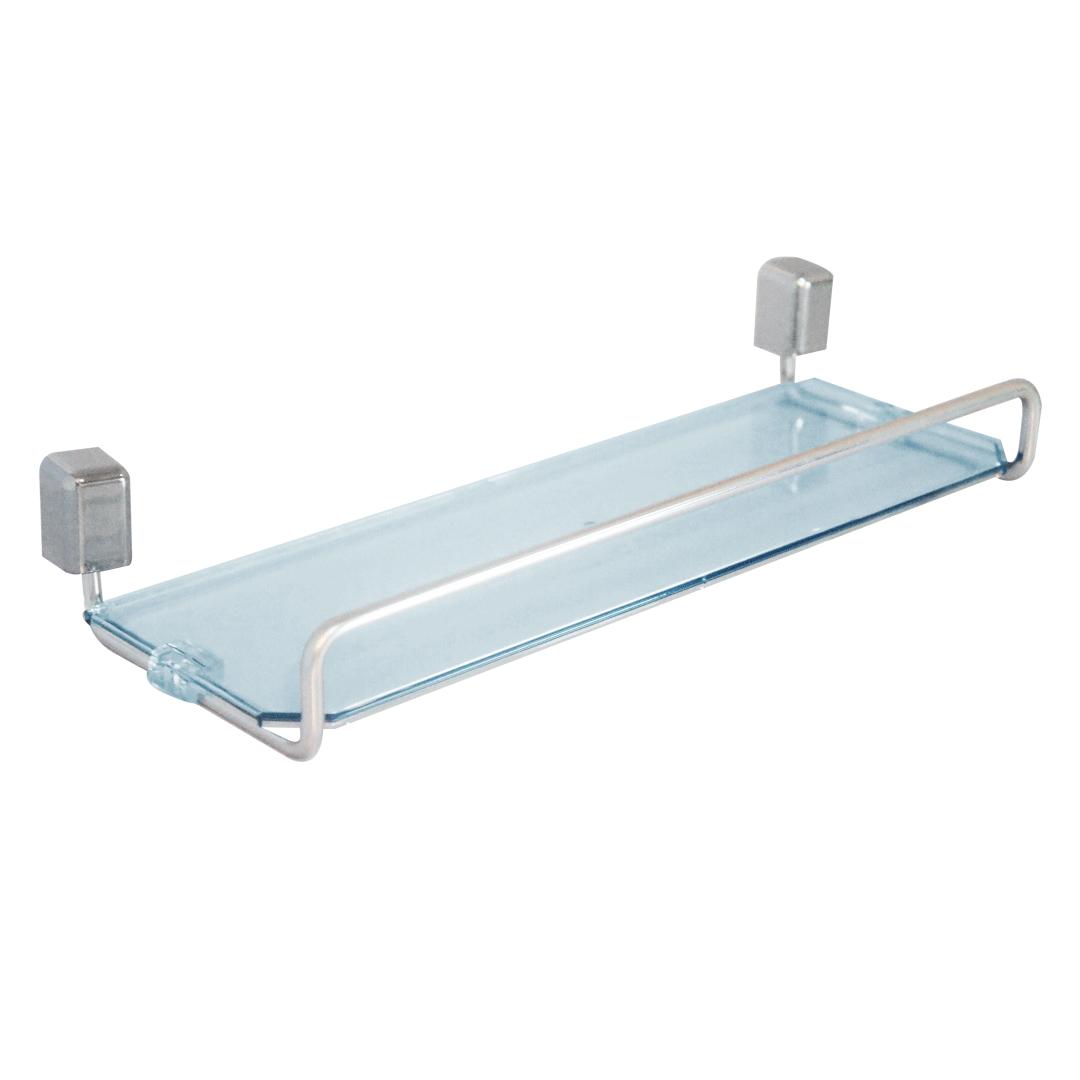 Porta Shampoo 31 cm de Alumínio e Acrílico Linha Città