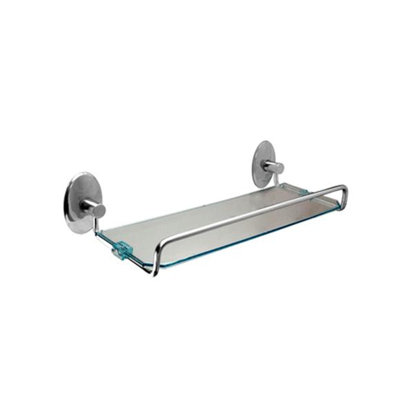Porta Shampoo de 31 cm em Alumínio e Acrílico Steelo Oval