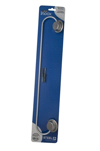 Porta Toalha 40 cm de Aço Inox Linha Inoox Steel Design