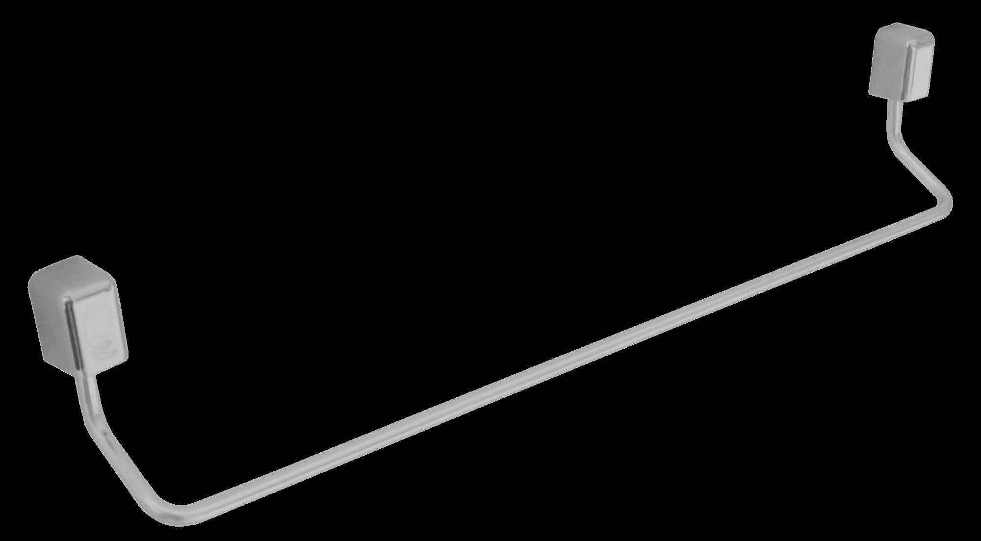 Porta Toalha Reto 43 cm de Alumínio Linha Città