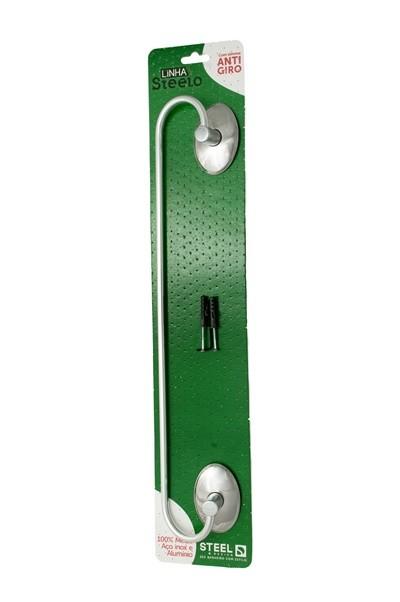 Porta Toalha Reto de 40 cm Linha Steelo Oval