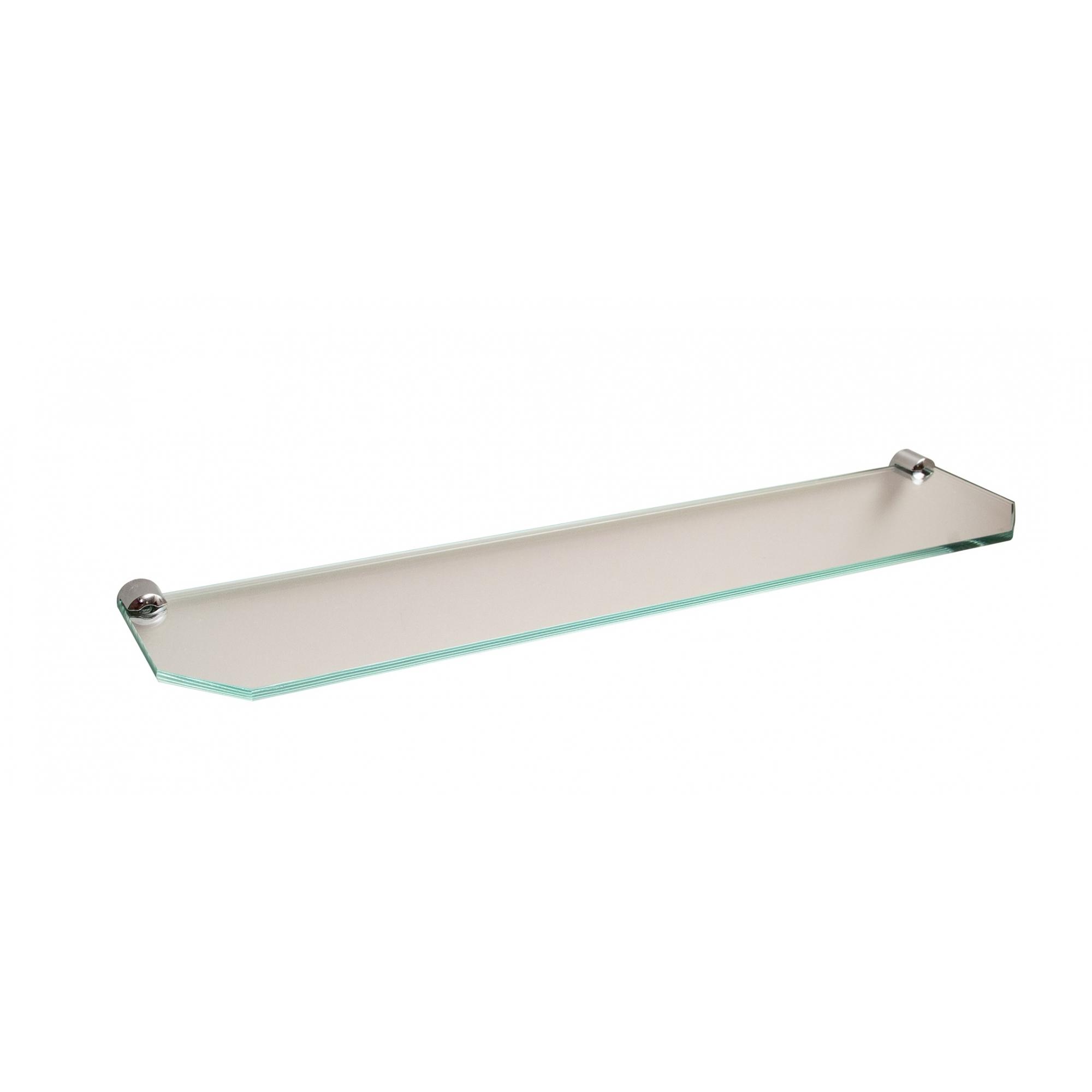 Prateleira de vidro chanfrado 45 cm